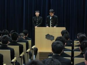 生徒会長選挙立会演説会02