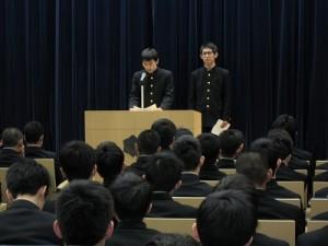 生徒会長選挙立会演説会01